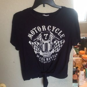 Motorcycle Front Knot Tee